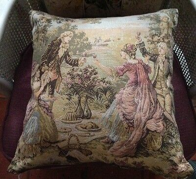 *~French Tapestry Cushion - Vintage Cushion*~