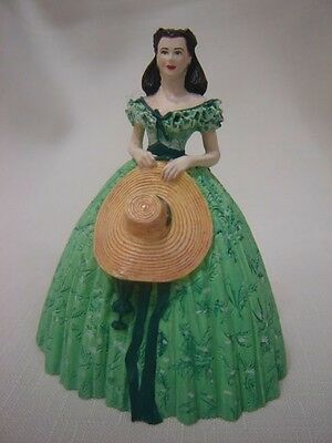 "Franklin Mint Gone With the Wind Scarlett 3"" figurine resin EUC"