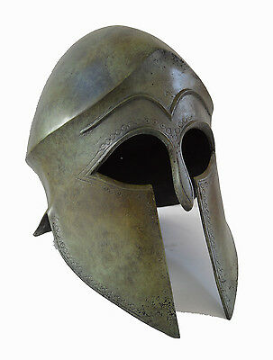 Helmet Ancient Greek Great reproduction real size bronze artifact