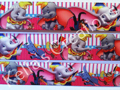 """Dumbo 7/8"""" grosgrain ribbon sold by 2 M - Craft - Hair - Dummy clips"""