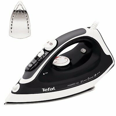 Tefal FV3763 2300W Stainless Steel Sole Plate Maestro Steam Iron New