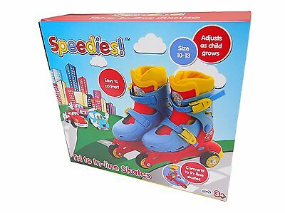 SPEEDIES Beginners Childs Toddlers Tri to In-line Roller Boot Skates NEW 3YRS +