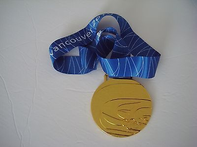 2010 Vancouver Olympic 'Gold' Medal with Silk Ribbon & Display Stand !!!
