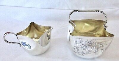 Antique Whiting Mfg  Sterling Silver Sugar & Creamer