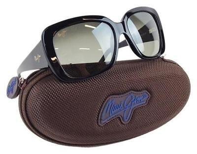 NEW Maui Jim Black w Grey POLARIZED Plus Lens Sunglass womens $299