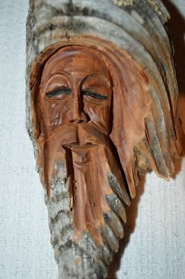 South American Native Hand Carved Driftwood Northern Spirit Figure Wall Hanging