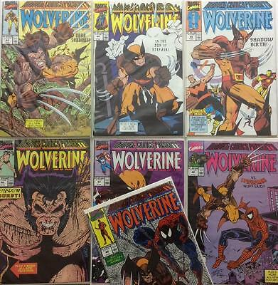 Marvel comics presents Wolverine #43 to #49 (1990 Marvel) 7 x issues