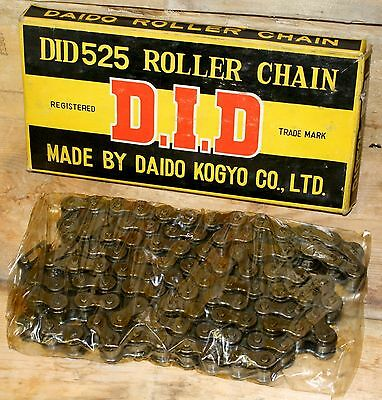 D.I.D. DID525 Roller Chain 98 Link Daido Kogyo LTD NEW OLD STOCK Motorcycle