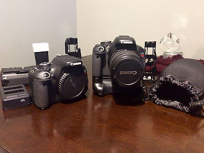 2 Canon EOS Rebel T3i / EOS 600D 18.0MP Digital SLR Camera - with 18-55mm + kit