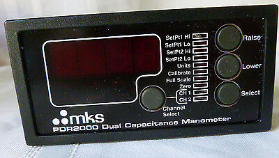 MKS PDR-2000 Dual Capacitance Gauge Manometer Two Channel Digital Power Supply