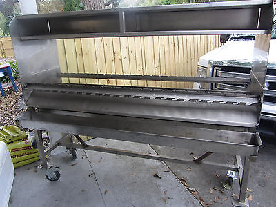 commercial rotisserie charcol grill