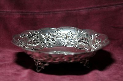 "Vintage Greek  Sterling Silver Footed  Dish  Bowl   6 ¼ ""   3.2 oz / 92 gram"