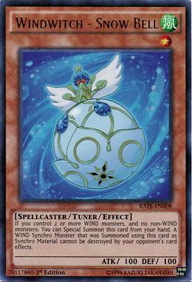 Yugioh Windwitch - Snow Bell 1st Edition Ultra Rare RATE-EN008 M/NM