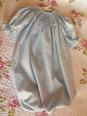 Ready To Smock Blue Daygown Saque 0-3 Months