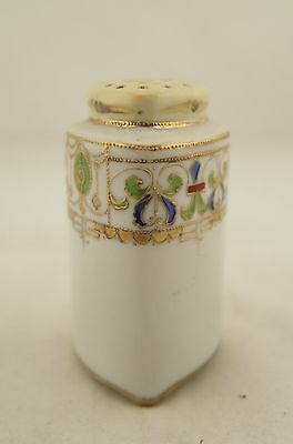 Antique Japanese signed I.E & Co Nippon hand painted floral sugar caster/shaker
