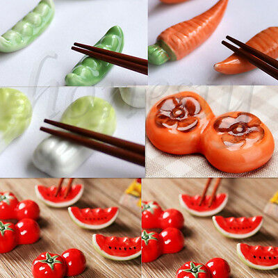 Creative Cute Ceramic Porcelain Chopsticks Stand Spoon Fork Vegetable Holder