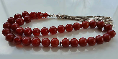 Amber Bakelite Prayer Worry Beads Tasbih Tasbeeh