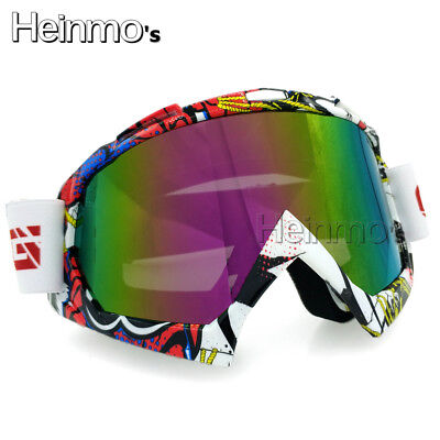 Adult Country Motocross Goggles EyeWear Glasses Dirt Bike Off-road Colorful Lens