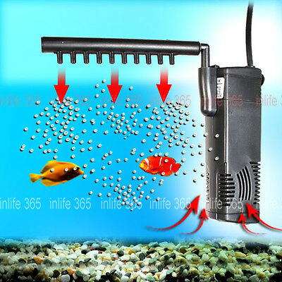 3 in 1 Submersible Aquarium Water Filter Pump Fish Tank 300L/H 600L/H 800L 1000L