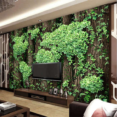 Aesthetic Leaves Map 3D Full Wall Mural Photo Wallpaper Printing Home Kids Decor
