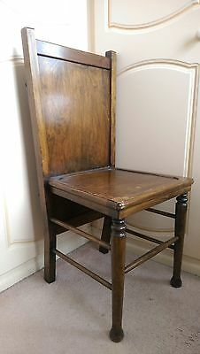 """VINTAGE 1930's """"PATENT COMBINED BEDROOM CHAIR AND TROUSER PRESS, ORIGINAL COND."""