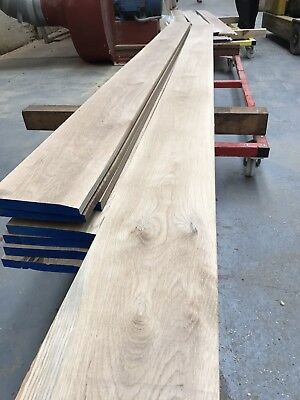 Solid Oak Skirting Board 170mm - CHAMFER profile - Long Lengths A grade Oak ****