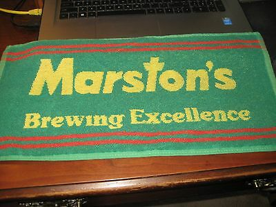 BEER BAR PUB TOWEL; MARSTON'S Brewing Excellence;Vintage GREAT BRITIAN / ENGLAND