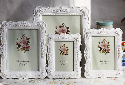 Hot Sale White Side  Retro Rose Photo Frame Creative  Picture Frame pendulum