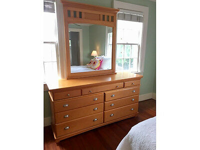Solid Wood Dresser With Mirror 25000 Picclick
