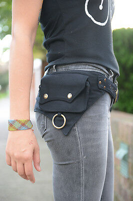 The Hipster, Cotton Utility Belt, Festival Belt, Pocket Belt, Bum Bag, Hip Bag