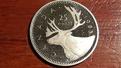 Canada 1985 Proof 25 Cents Deep Cameo Coin