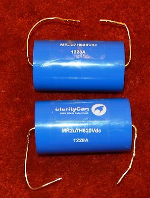 CLARITYCAP MR 2.7uF AUDIO CAPACITORS 630V dc x 2