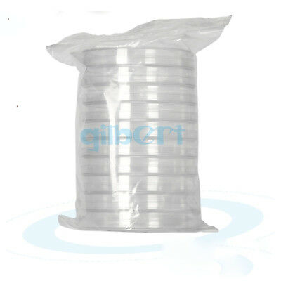 Sleeve of 10 60/70/90mm Petri Dish High Quality Polystyrene Sealed Culture