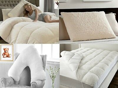 13.5 TOG Super Soft Teddy Bear Sherpa Wool Feel Anti-Allergy Quilt Duvet Pillow