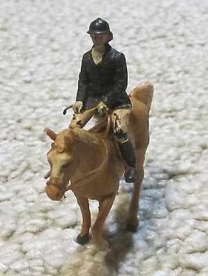 Rare Britains England Resin Equestrian with Female Rider, Fox Hunter? Early