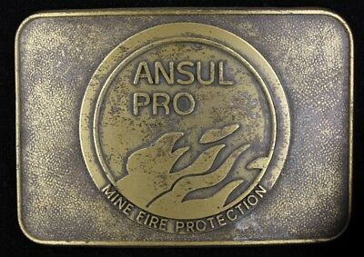 Vtg Ansul Mine Fire Protection School Mining Belt Buckle