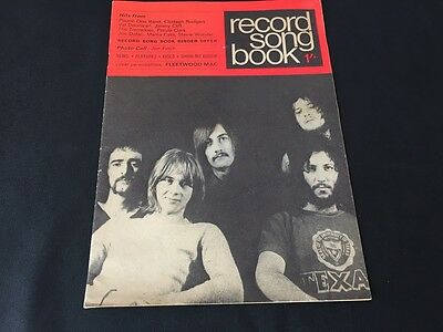 Collectable 1969 Record Song Book Featuring Fleetwood Mac On Cover Good Order