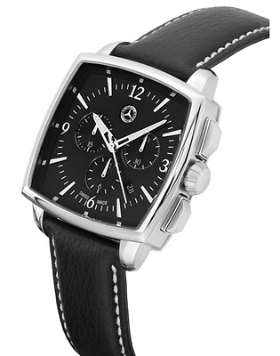 Mercedes Benz Chonograph Watch Swiss Made Classic Carré B66043322 Boxed