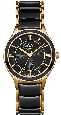 Mercedes Benz Ladies  Watch Swiss Made Gold and Black B66953069 Boxed