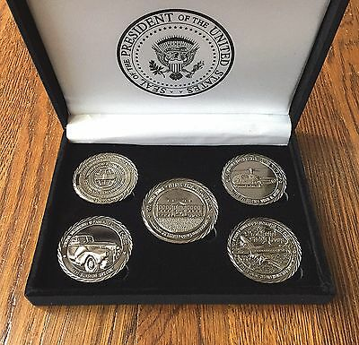 President Donald J. Trump White House Military Office Challenge Coins Set