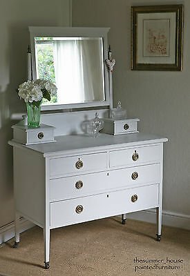 Pretty Vintage Edwardian Dressing Table Painted in Farrow & Ball