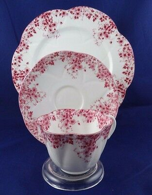 "Shelley Dainty PINK Trio cup saucer 8"" Salad Plate 051/P Bone china England"