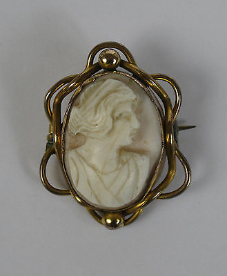 Shell cameo brooch.  Grand Tour Roman style