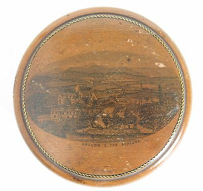 Mauchline ware turned box 'Brecon and the Beacons'