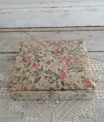 Antique French Fabric Covered Boudoir Box