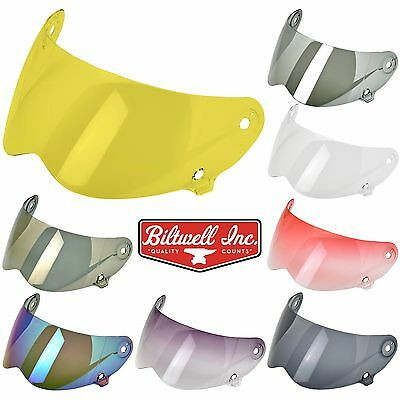 Biltwell Lane Splitter Motorcycle Helmet - Shield Visor - All Colours