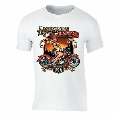 American Dream T-shirt USA Motorcycle Garage Route 66 Milwaukee Wisconsin Tshirt