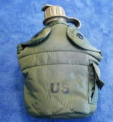 """""""NEW"""" Genuine US Military 1-QT OD Green CANTEEN & NEW OD Green INSULATED COVER"""