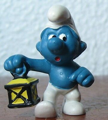 Smurfs - Rare - Watchman Smurf With Yellow Top Lantern!