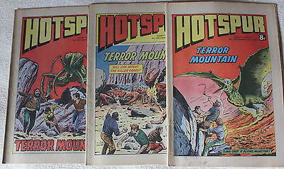 3 Hotspur Comics from 1979 Issues #1012 to #1014
